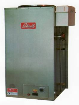 Loheat 2000 series in Stainless Steel illustrated with timeclock option.